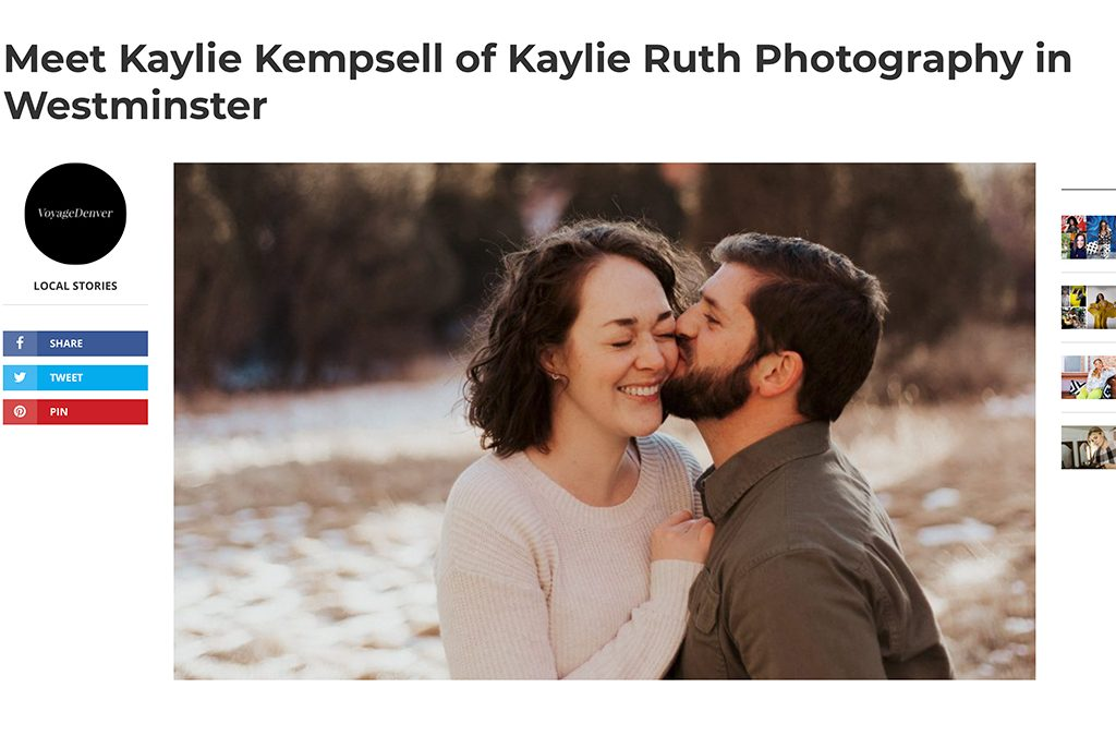 Interview With Voyage Denver Magazine | Newborn Photography in Westminster